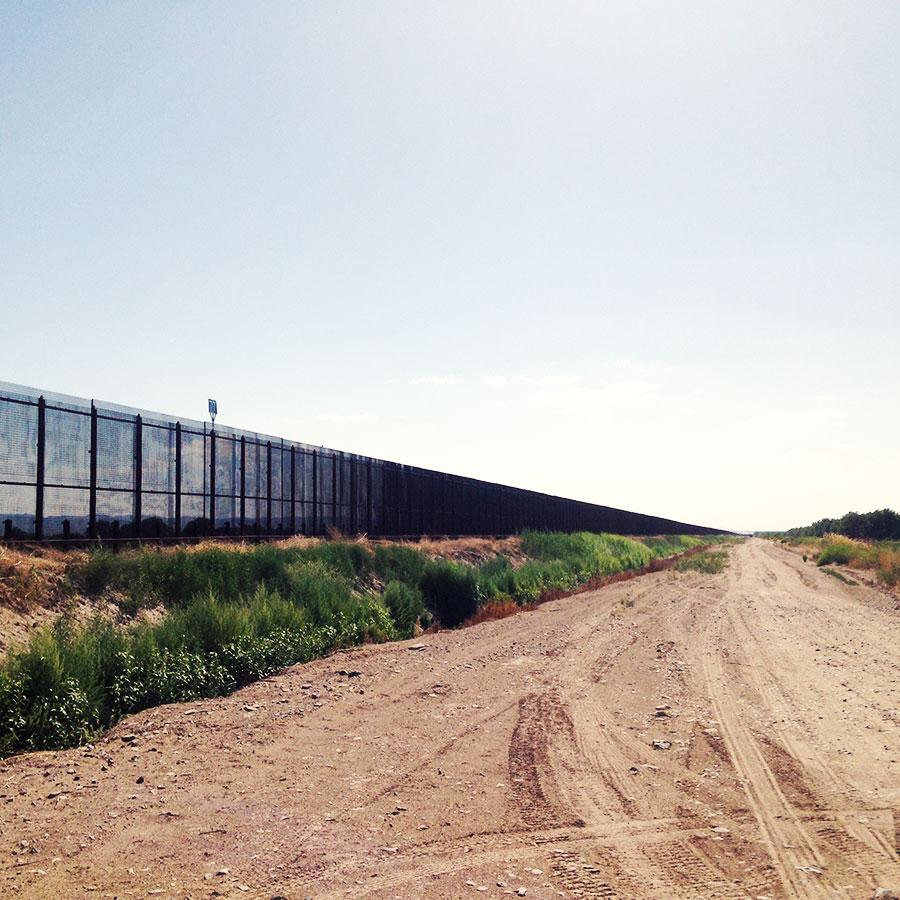 エルパソ付近の国境線