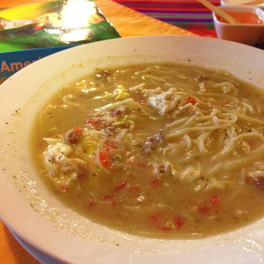 スープスパゲッティの前菜