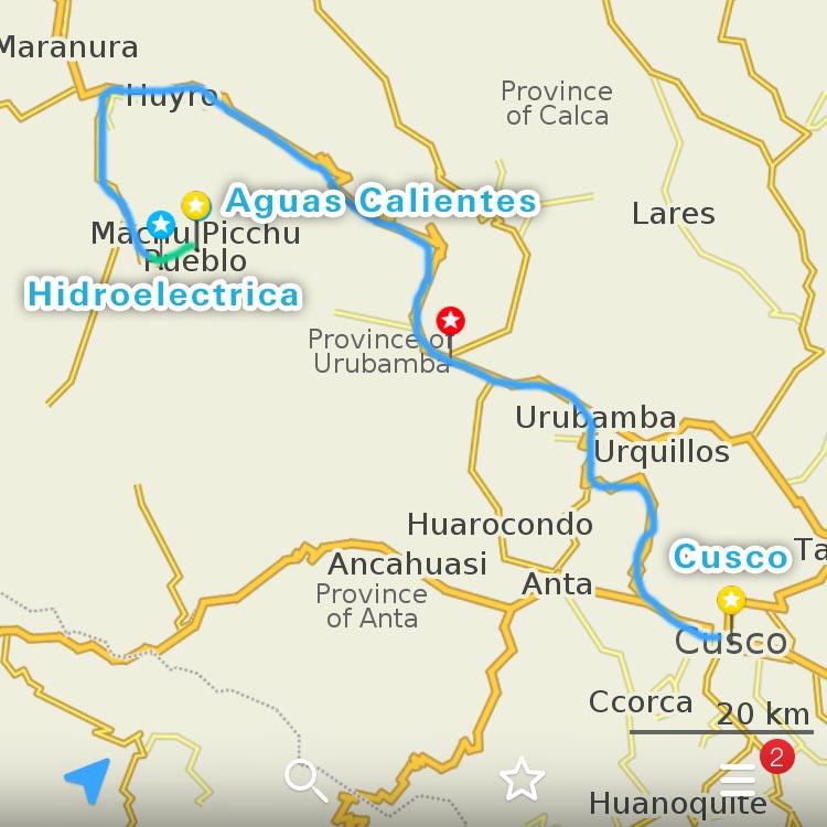 クスコからマチュピチュまでの行き方 スタンドバイミーコース