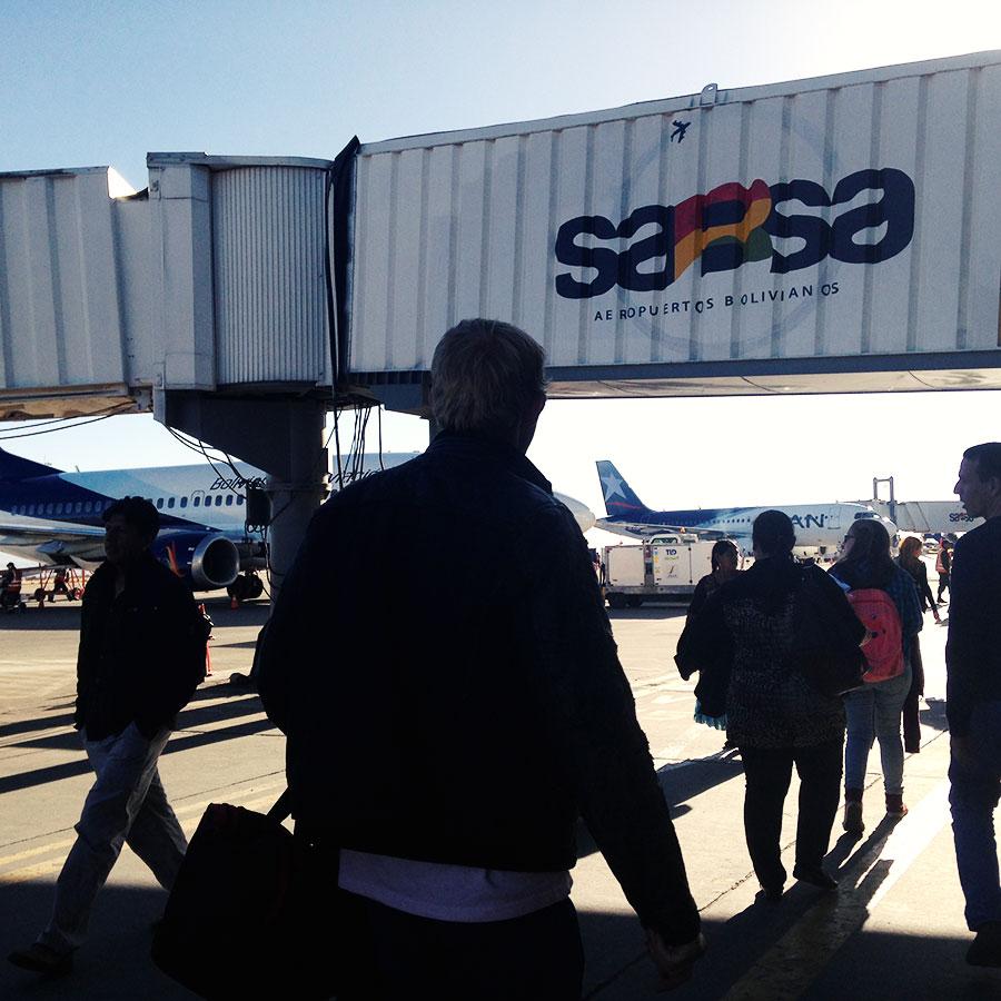 ラパスの空港