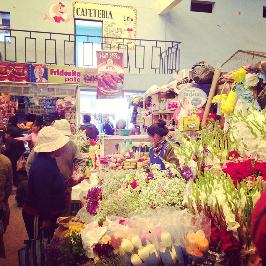 ウユニの市場。