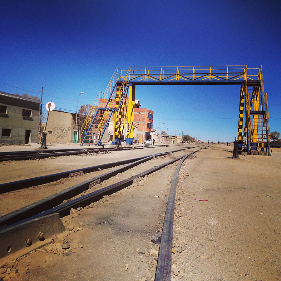 ウユニの線路。