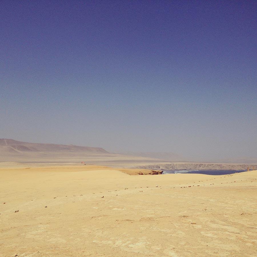 荒涼とした砂漠。