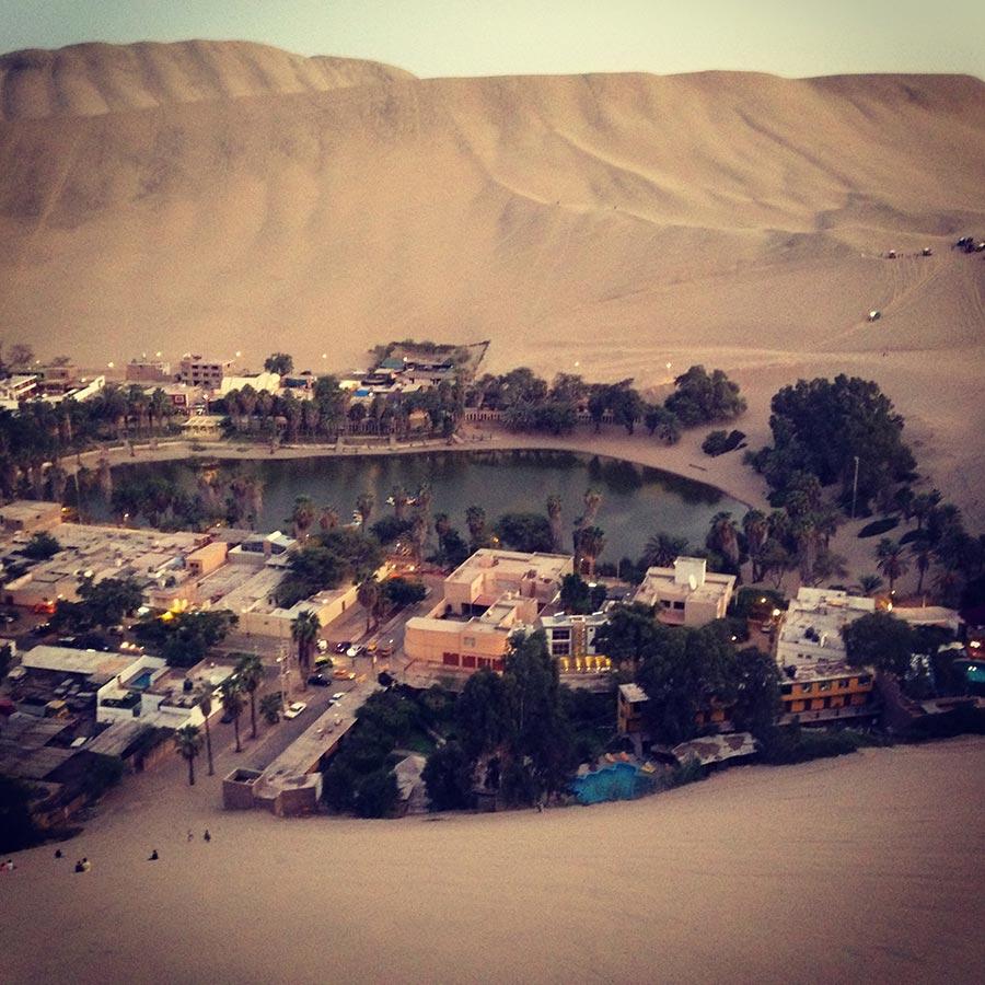 砂漠のオアシスファカチーナ