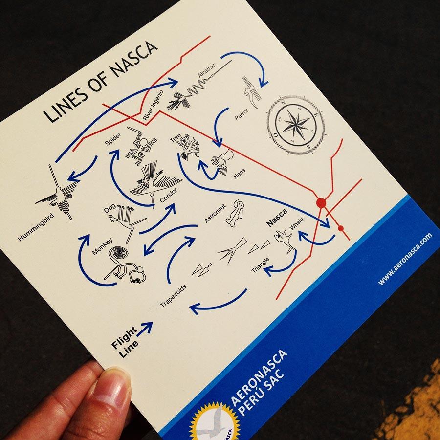 ナスカの地上絵、クルーズマップ