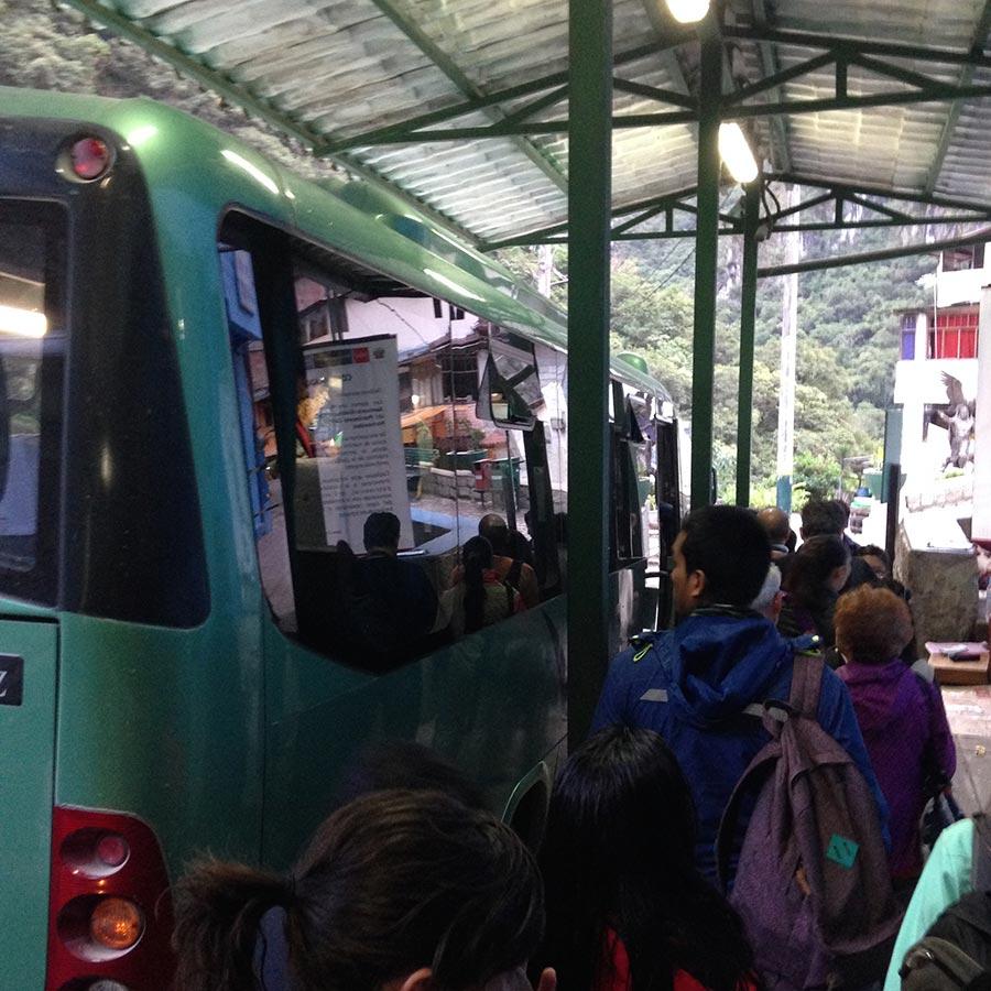 マチュピチュ村のバス乗り場。