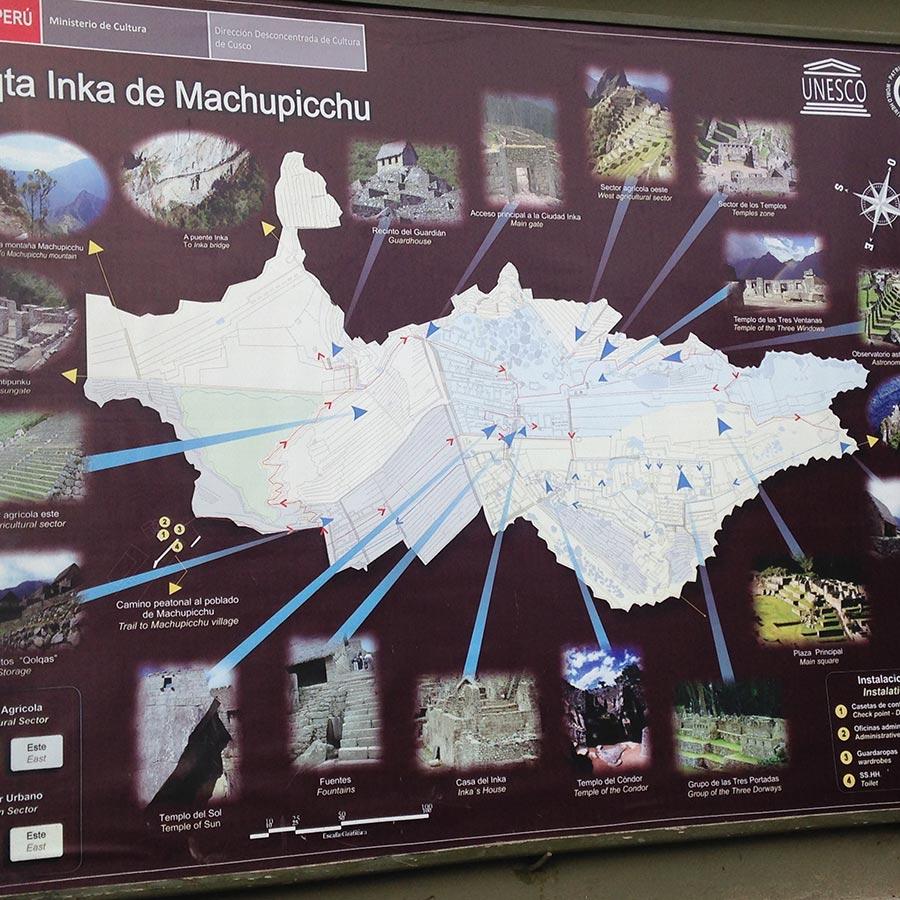 マチュピチュの地図。
