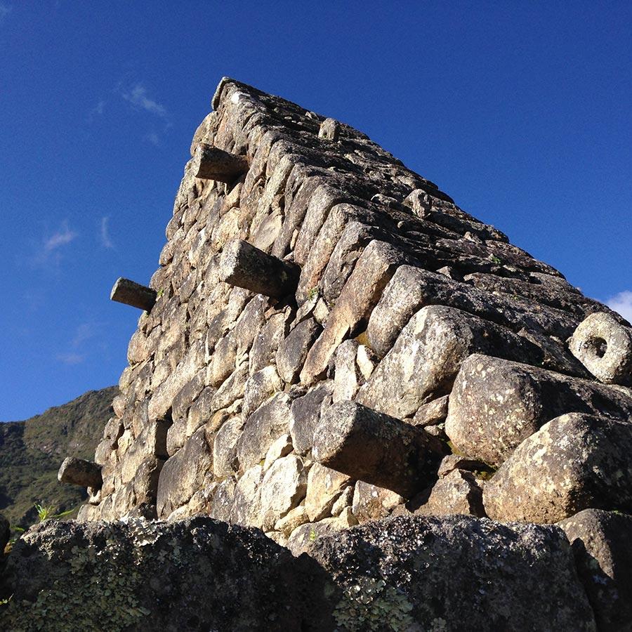 マチュピチュ インカ式住居の跡
