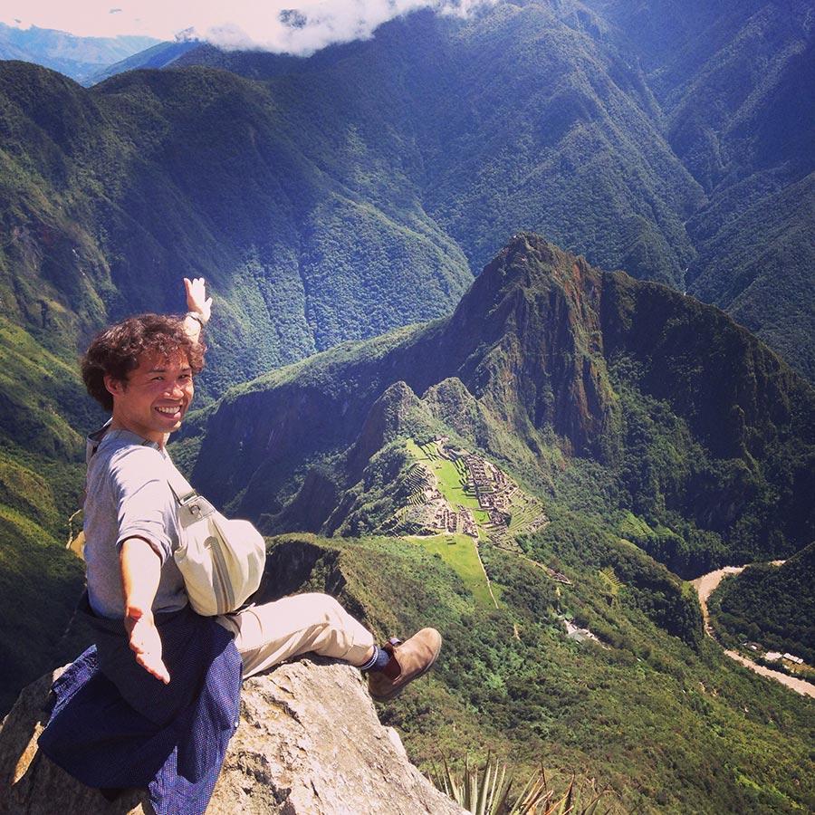 マチュピチュ山頂上からの眺め