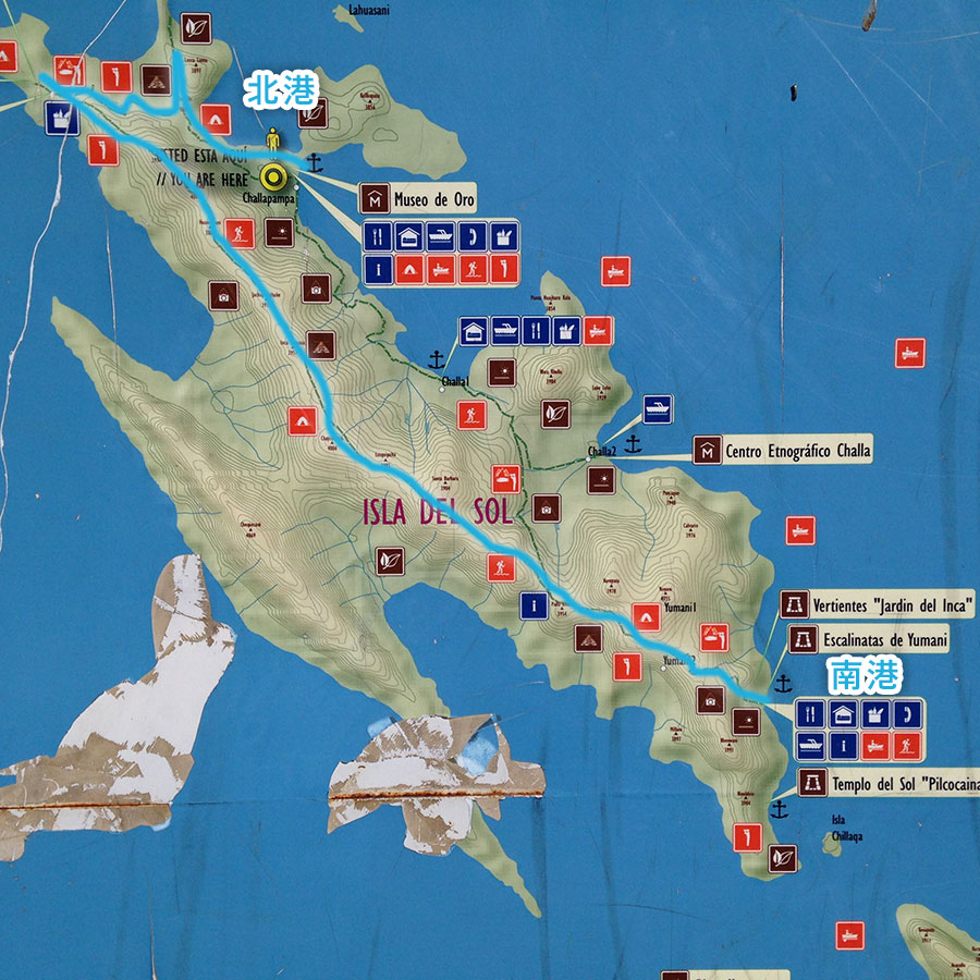 イソラデソルの地図