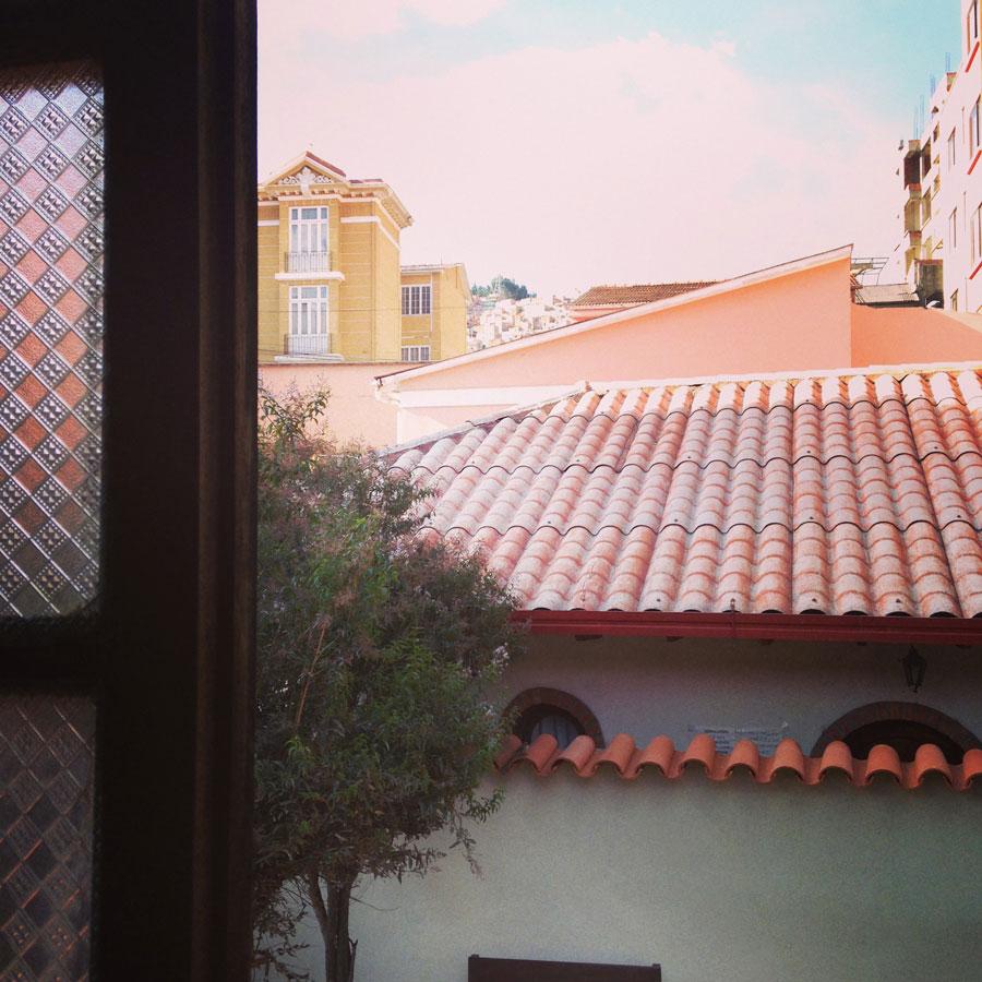 窓辺から。