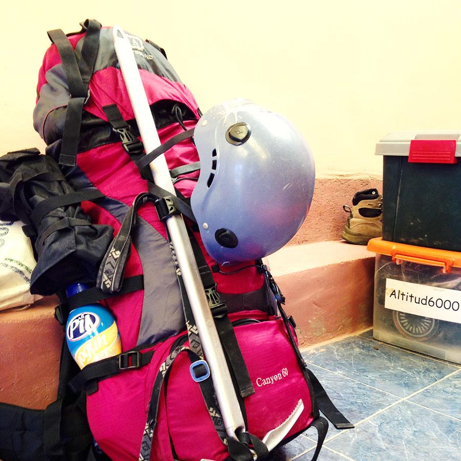 登山装備一式。