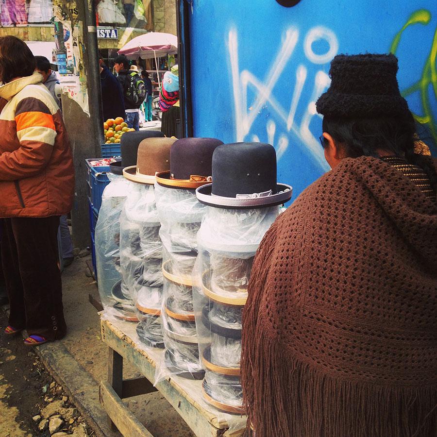 帽子の露天商。