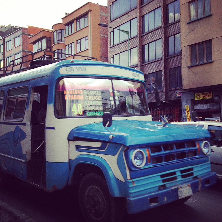 地元の私バス。