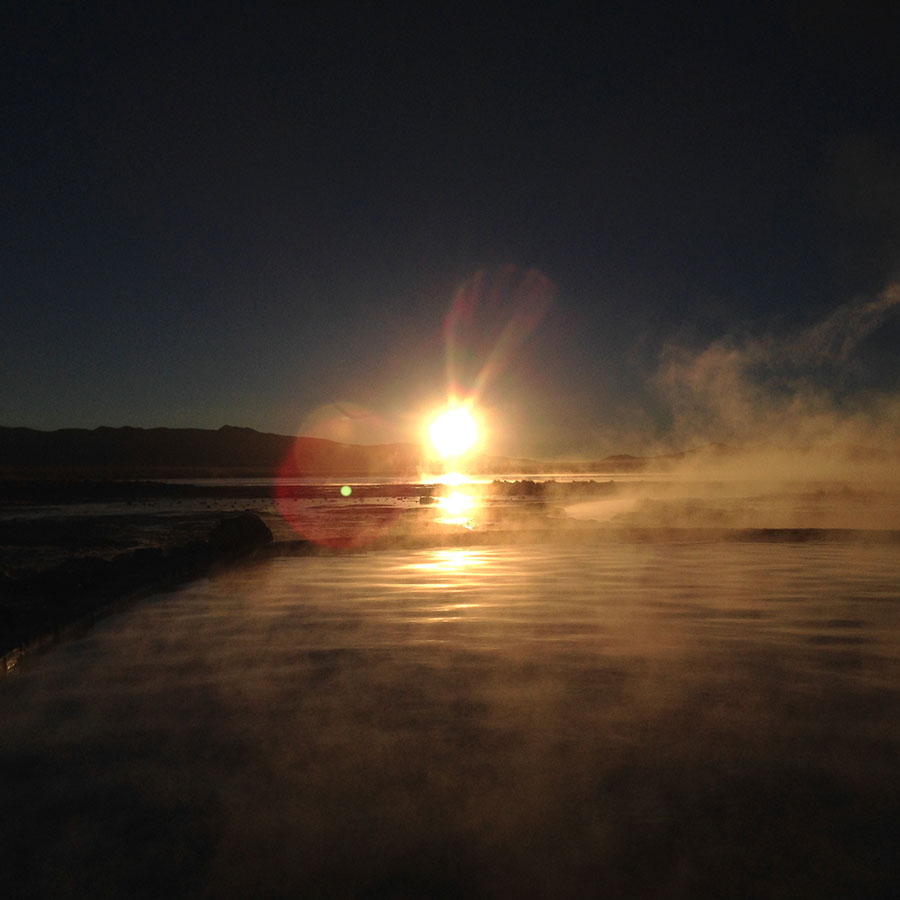 ウユニ湖の温泉