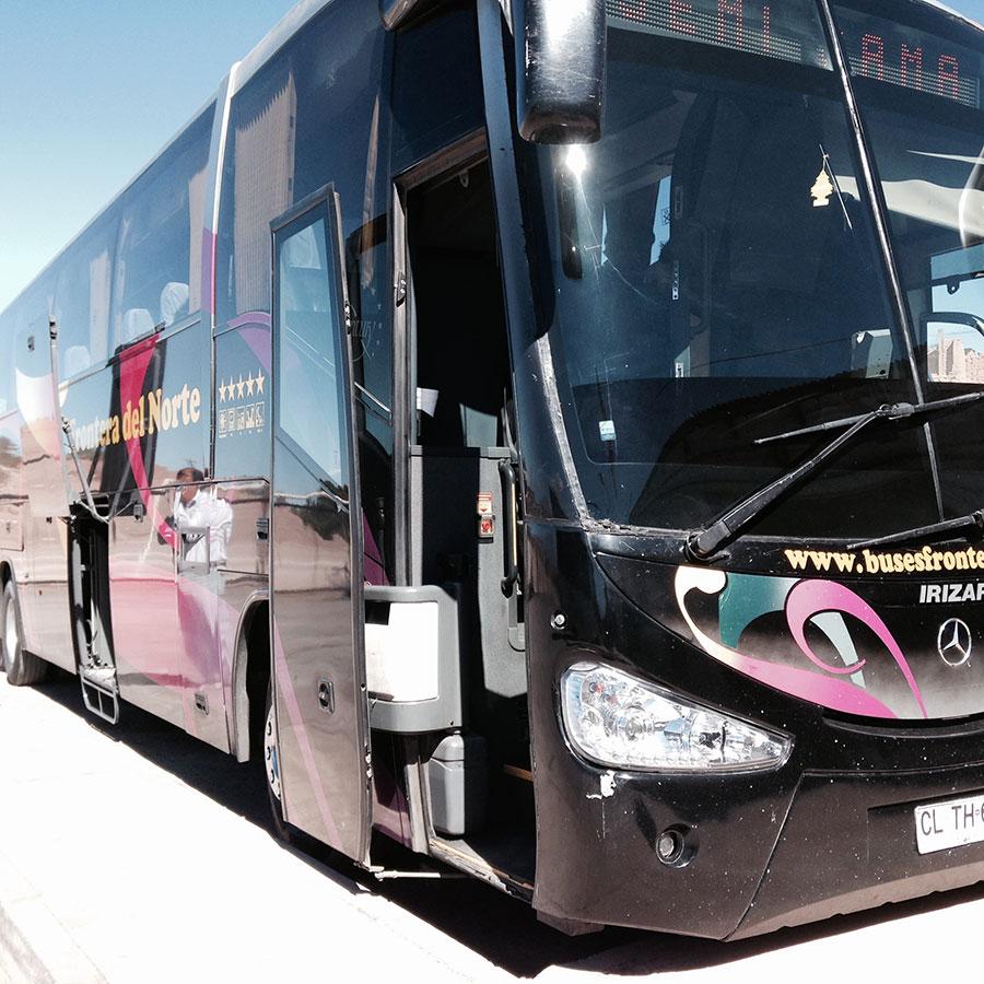 ベンツ製の長距離バス。