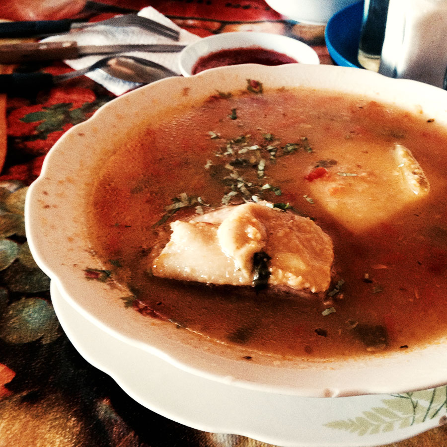 エスカドのスープ。