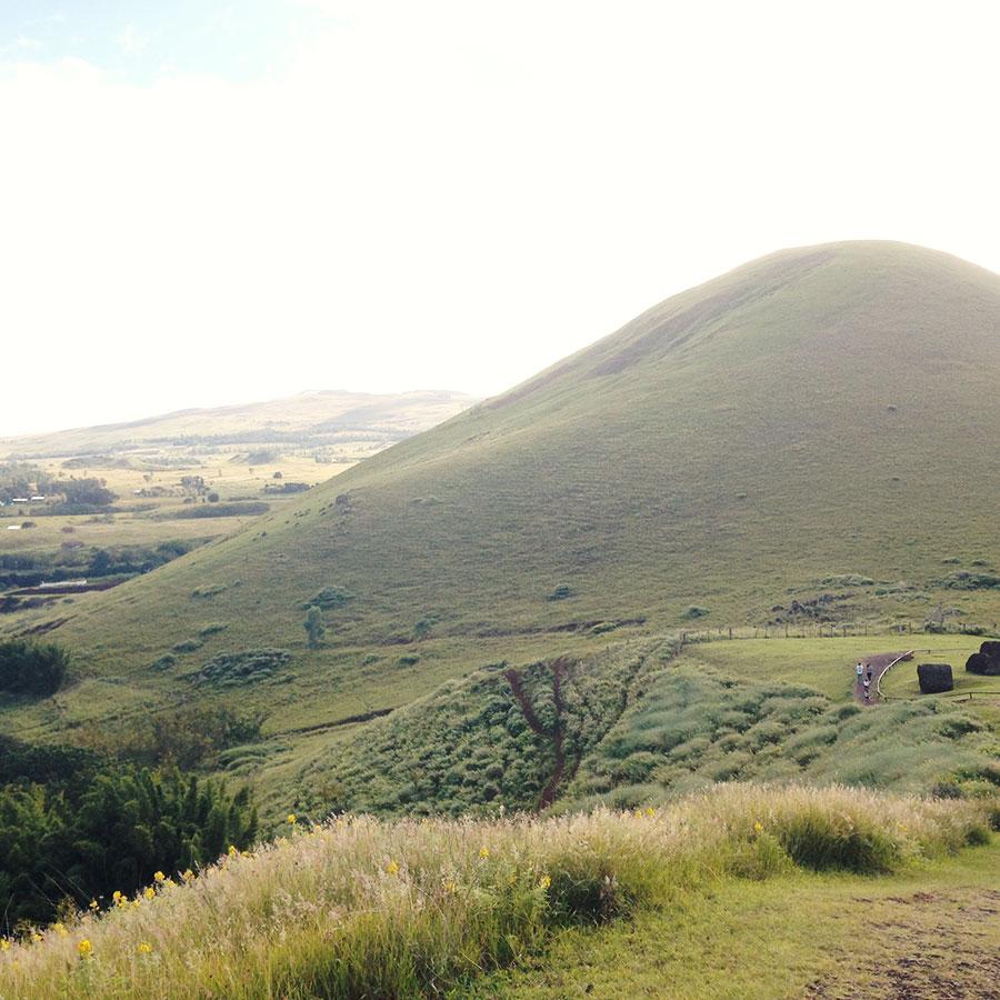 丘からの風景。