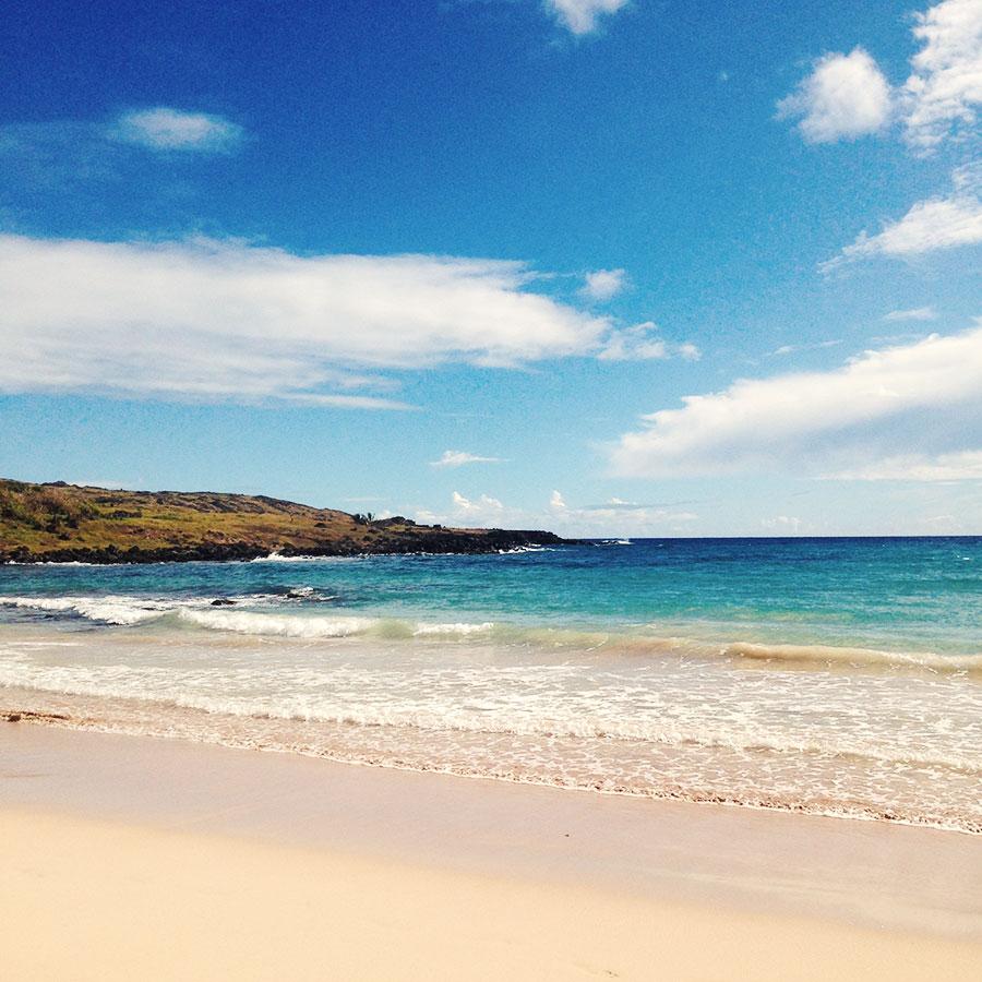 イースター島のビーチ。