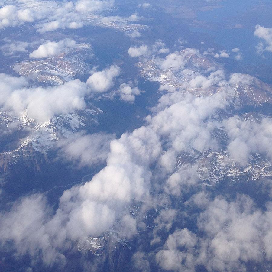 眼下のアンデス山脈。