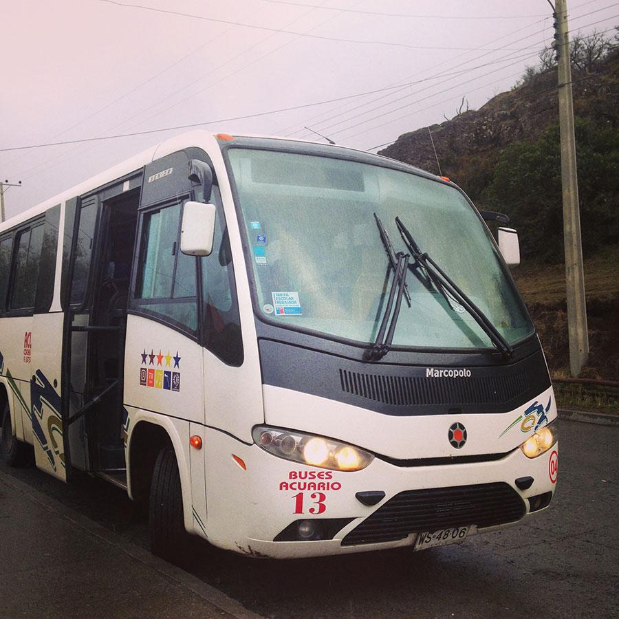 コイヤイケからプエルト・トランキーロへのバス。