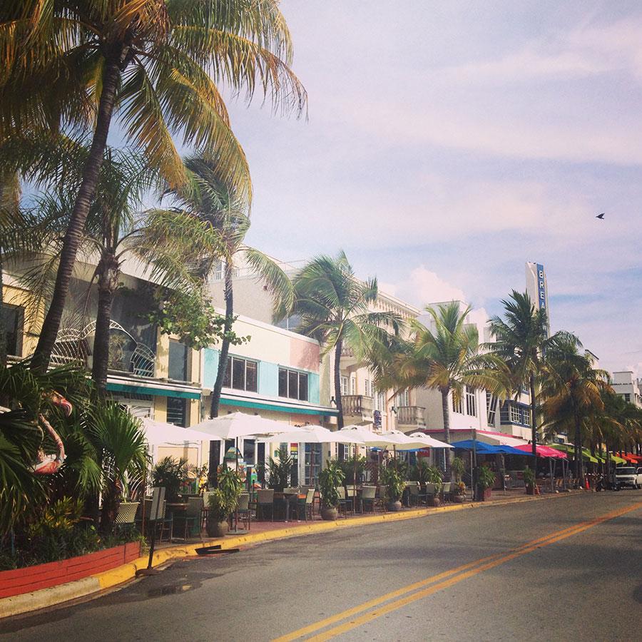 マイアミビーチの街並み
