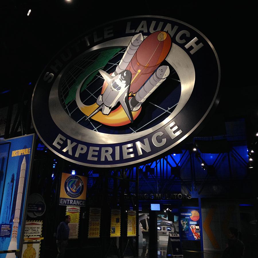 スペースシャトルの打ち上げ体験