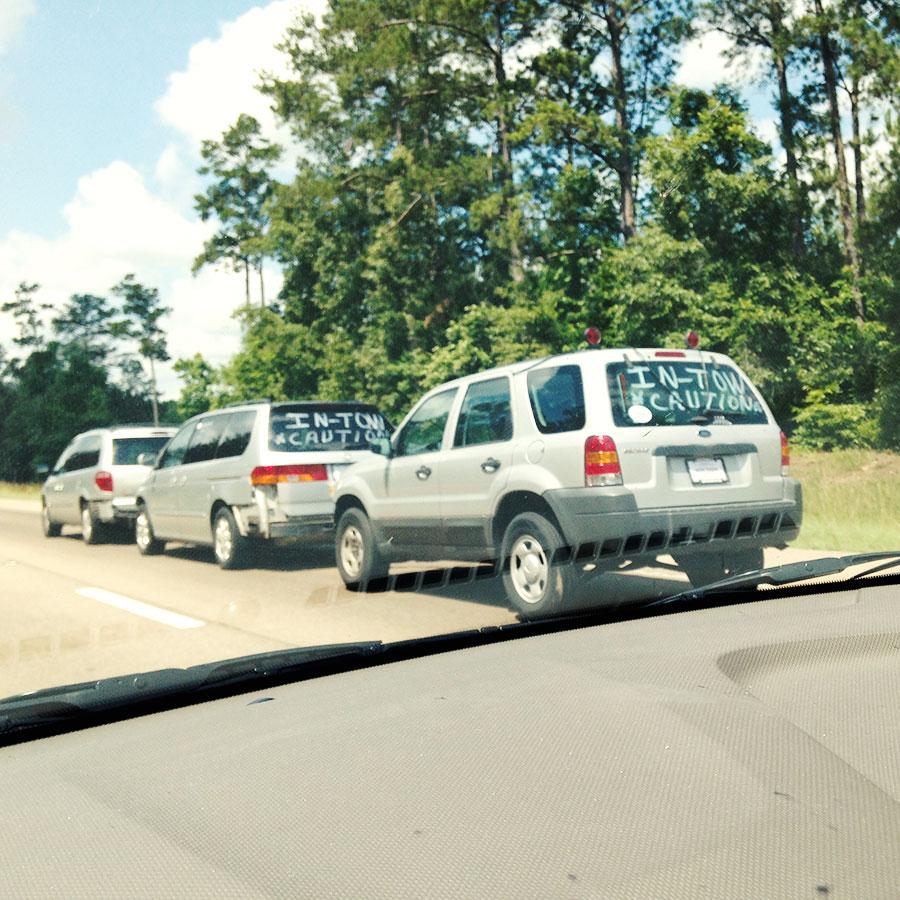 アメリカの高速道路を走る意味不明な車