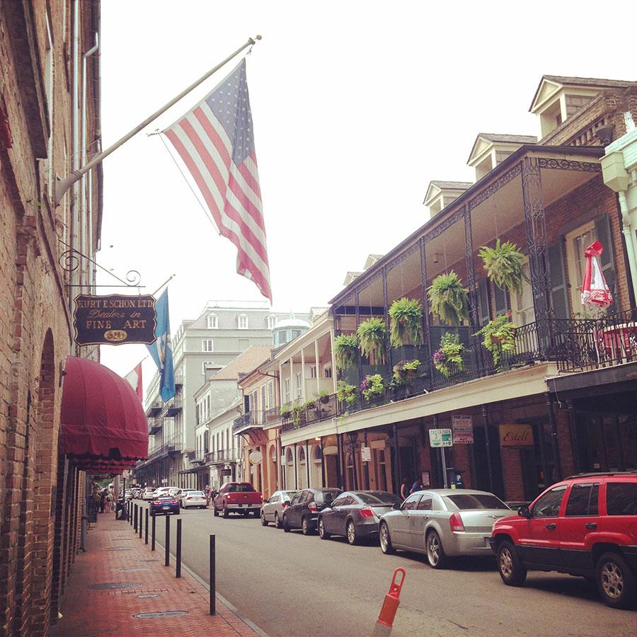 ニューオリンズの街並み