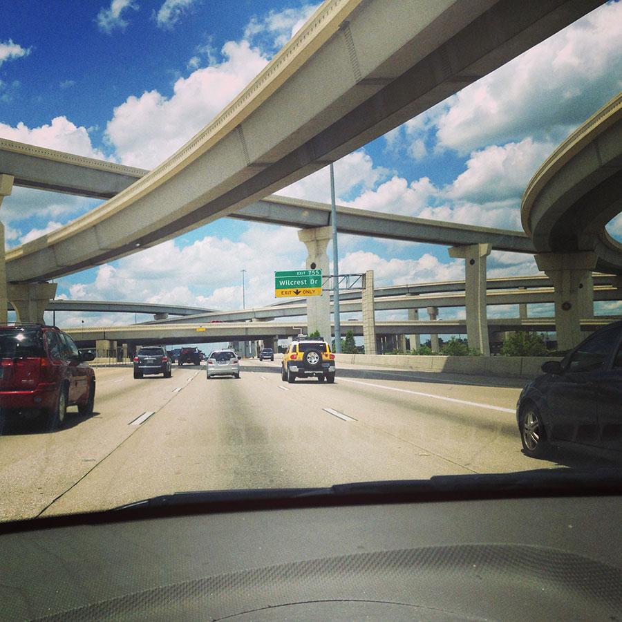 ヒューストン近郊の高速道路