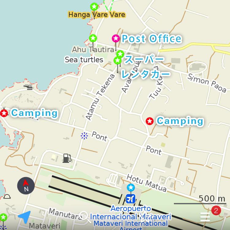 ダウンタウンのハンガロアの地図