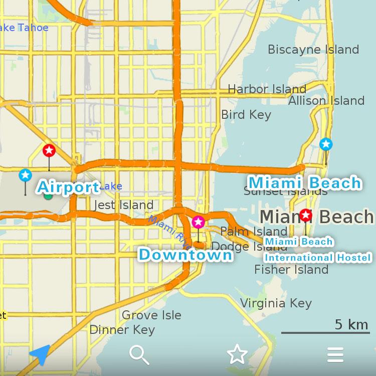 マイアミの地図