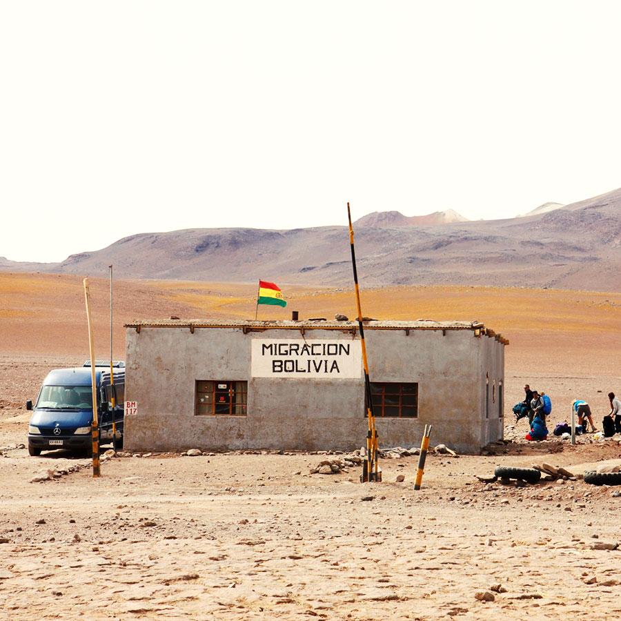 ボリビアとチリの国境、イミグレオフィス