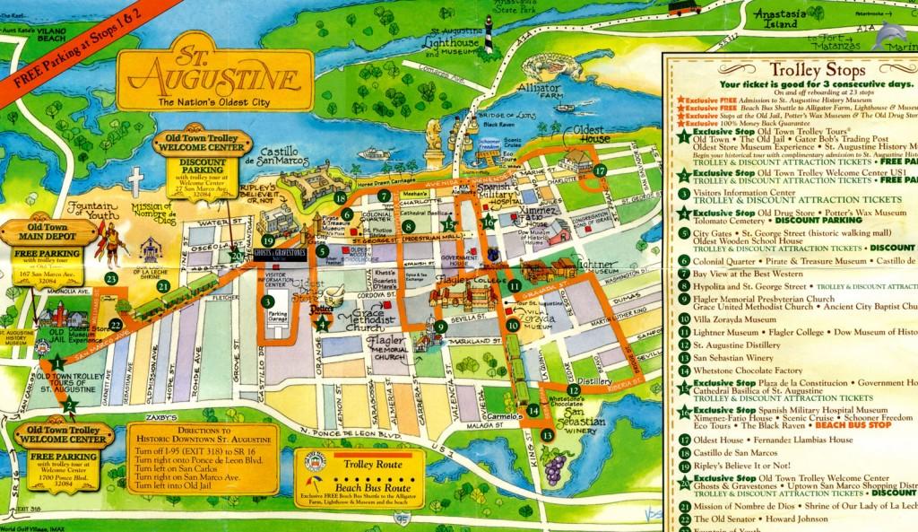 st.augustineの地図。