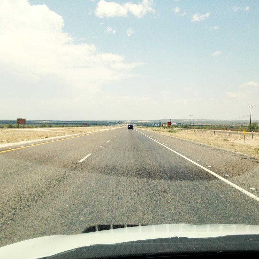 テキサスの真っ直ぐな州道