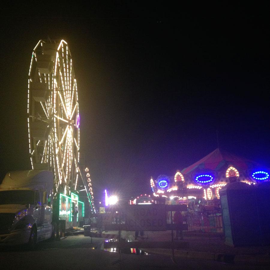 カールスバッドの移動式遊園地
