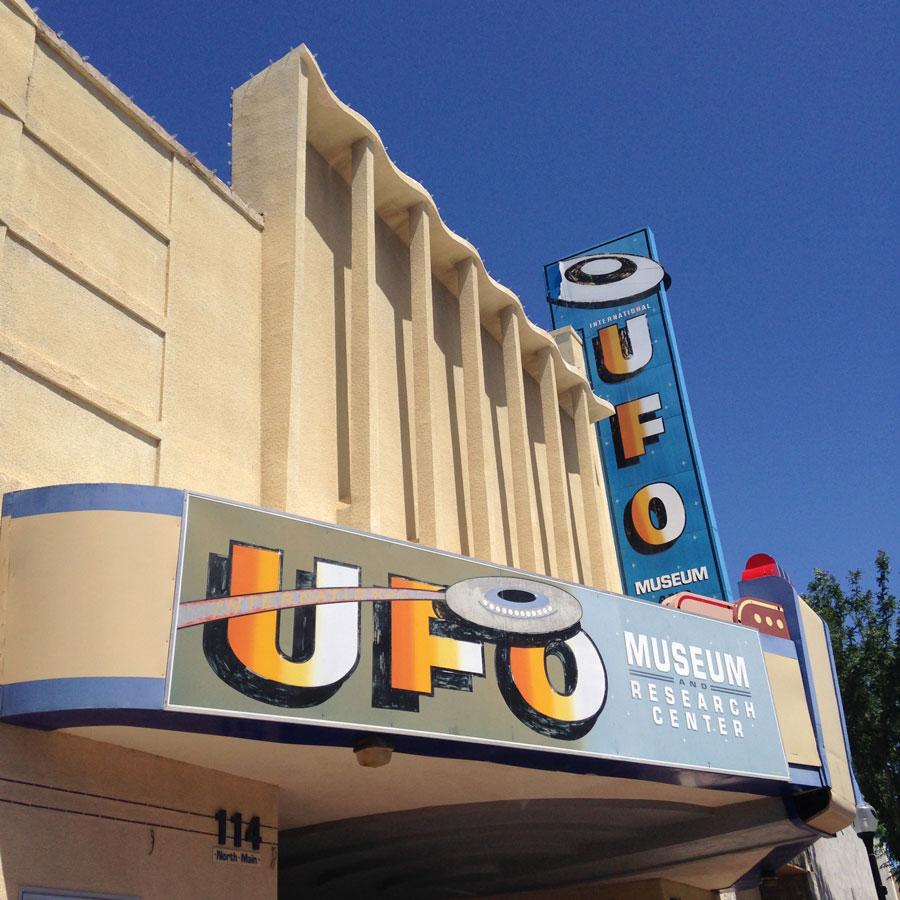 UFOミュージアムの入り口