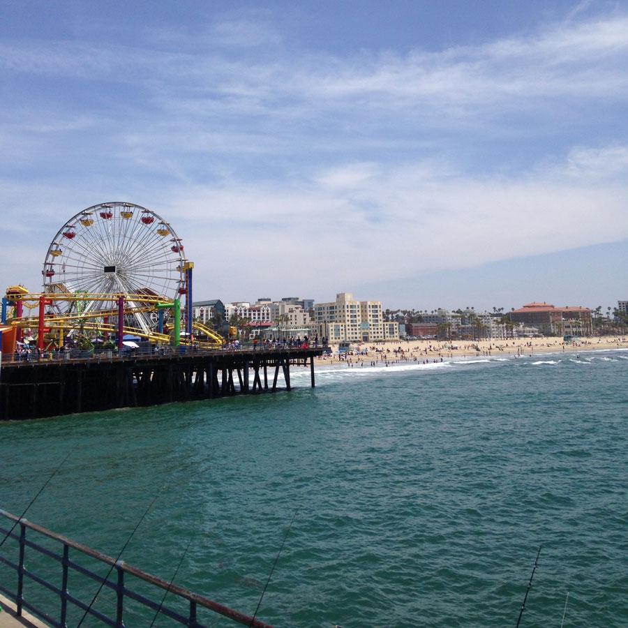 サンタモニカビーチの観覧車