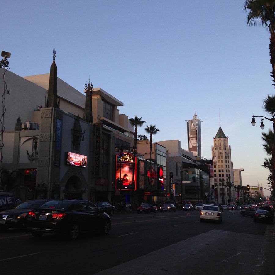黄昏のハリウッド